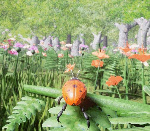 Ladybird flying GIF 2!